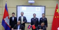 云南援助柬埔寨警察学院50台电脑用于培训和教学