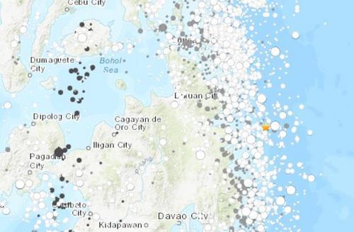 菲律宾附近海域发生5.7级地震震源深度17.9千米