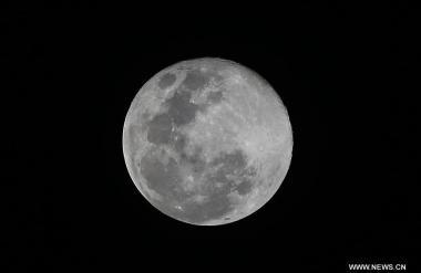 Super moon seen in Quezon, the Philippines