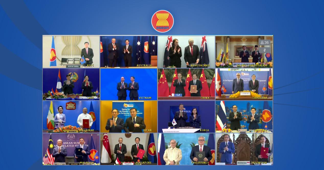 说明: 2020年11月15日,15国正式签署RCEP