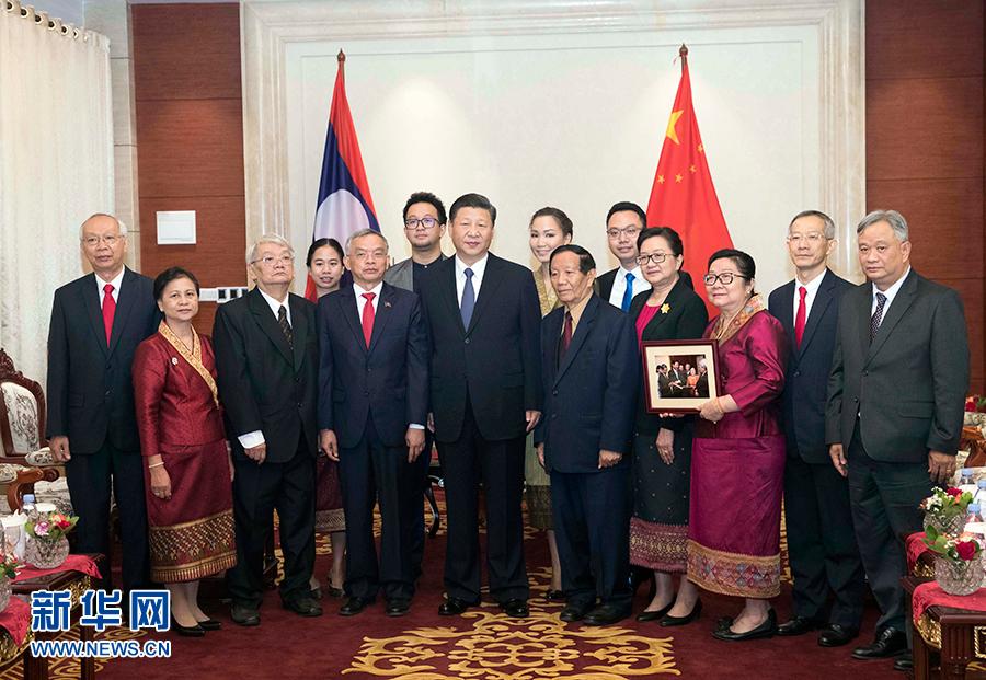 中国国家主席习近平会见老挝奔舍那家族友人 来源:新华网