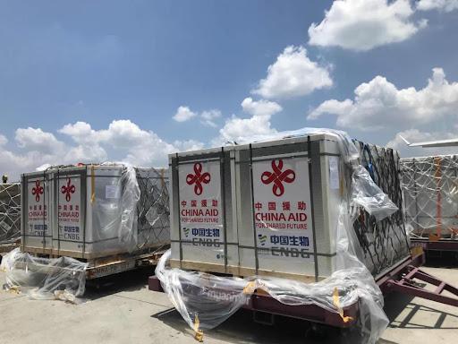 2021年中国援助缅甸的50万剂新冠肺炎疫苗运抵仰光