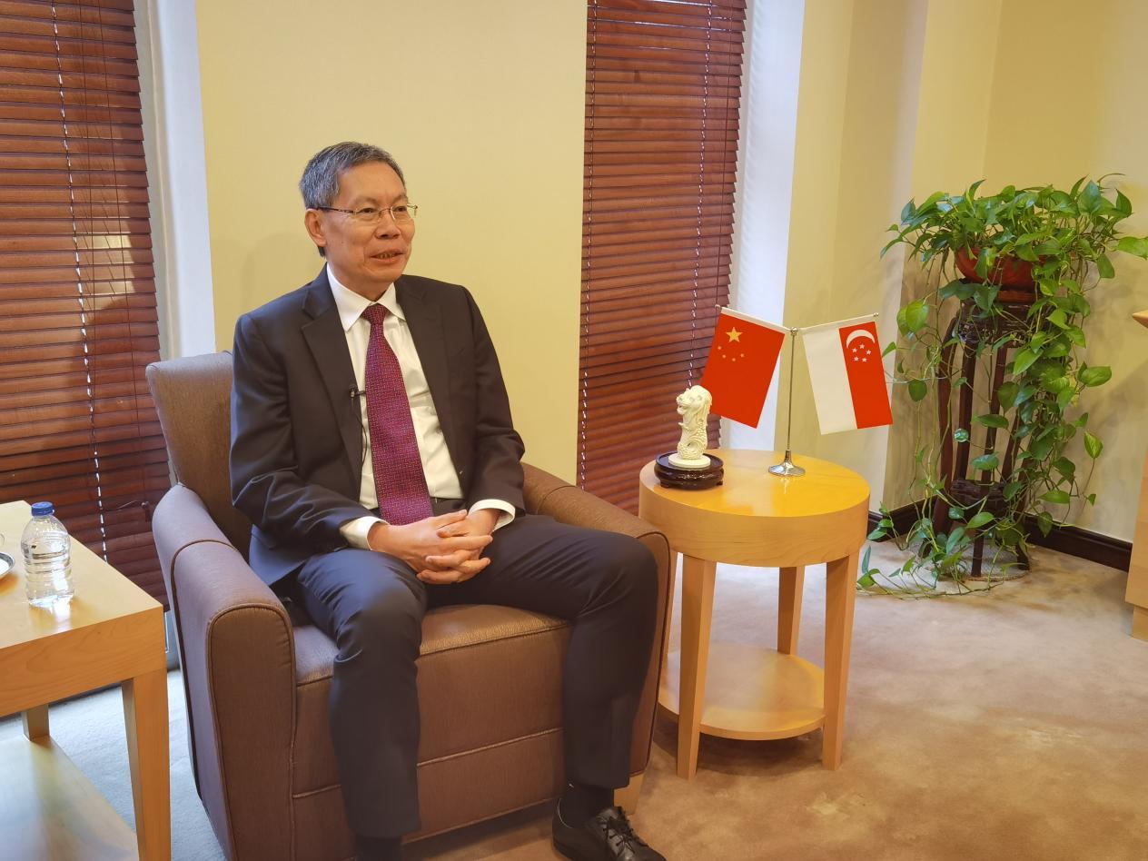新加坡共和国驻华大使吕德耀 (摄影:高航)