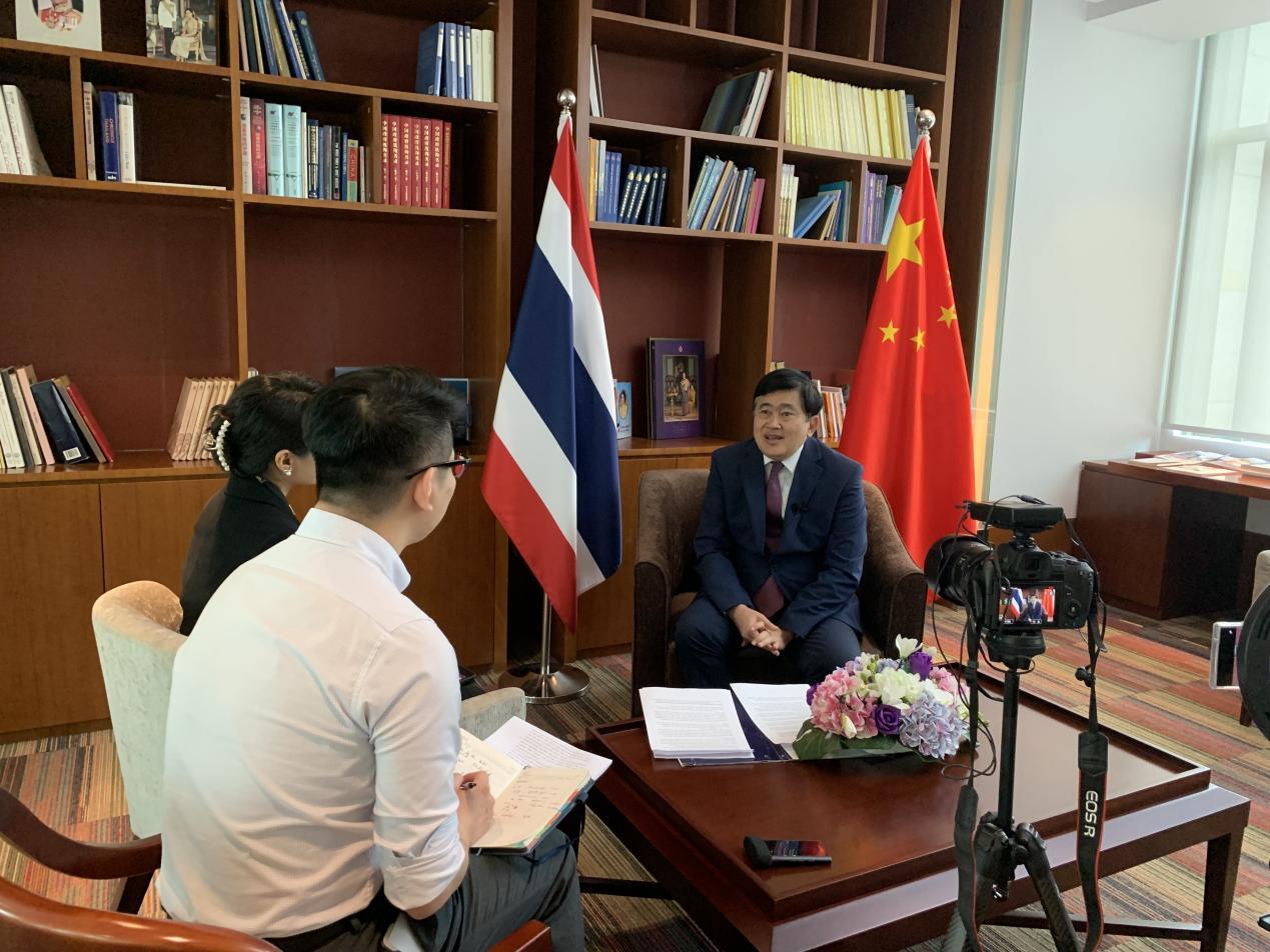 东博社记者赴京专访泰国驻华大使阿塔育·习萨目阁下 (摄影:关秋韵)